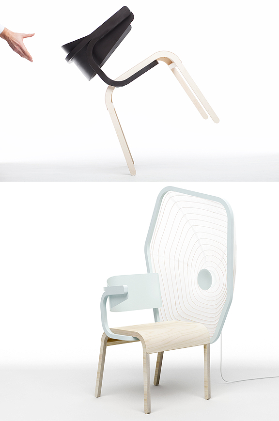 Chairs from the Perch Collection by Pierre Favresse