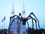 Image of Louise Bourgeois' Maman in front of the National Gallery in Ottawa