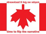 Upside down Canadian Flag