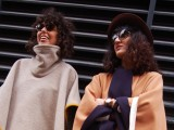 Two women with sunglasses on