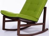 Dark wood rocking chair with cushion