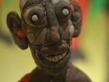 Sculpture of stuffed face