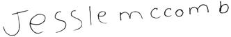 Signature saying Jessie McComb