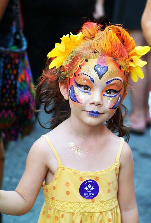 Next Generation of Cirque du Soleil performers facepainted at Buskerfest Toronto.