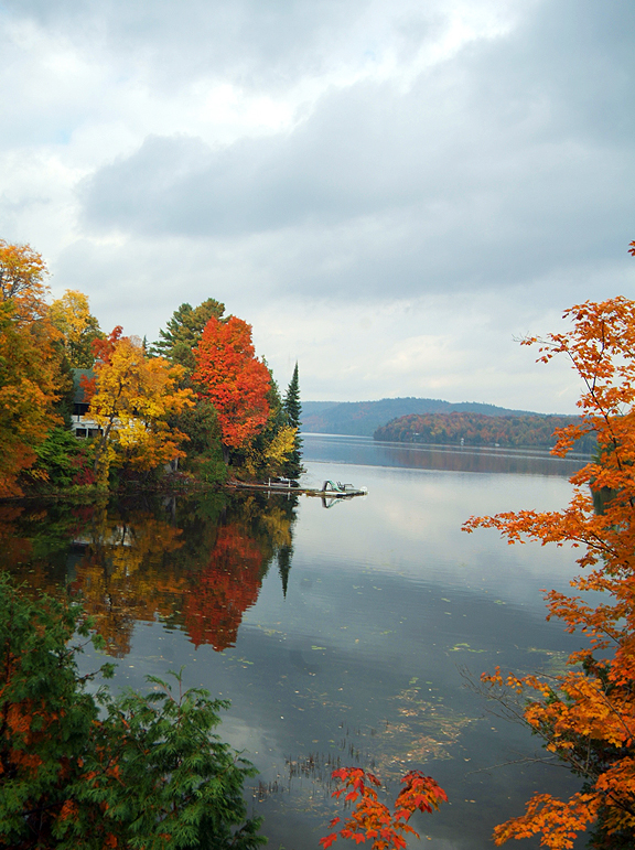 A view with the fall colours just outside Ottawa in Chelsea.