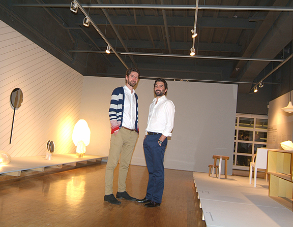 French designers Jean-Christophe Orthlieb and Pierre Favresse at Nouvelle Vague