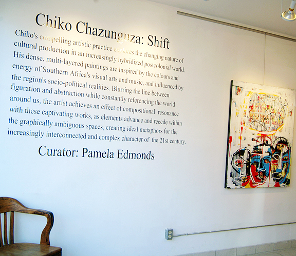 Shift art show at BAND Gallery Toronto, artist Chiko Chazunguza
