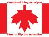 Upside down Canadian Flag