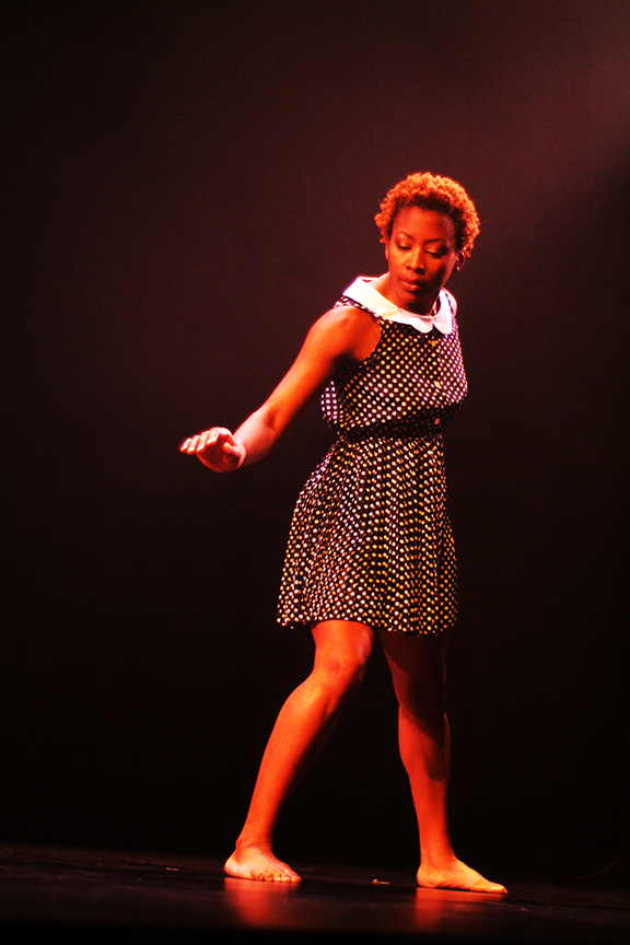 young black woman dancing