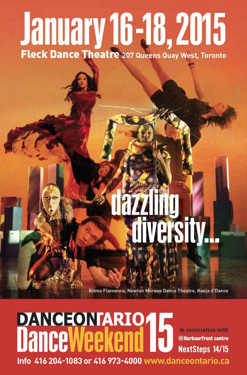 poster with collage of dancers of different cultural backgrounds performing